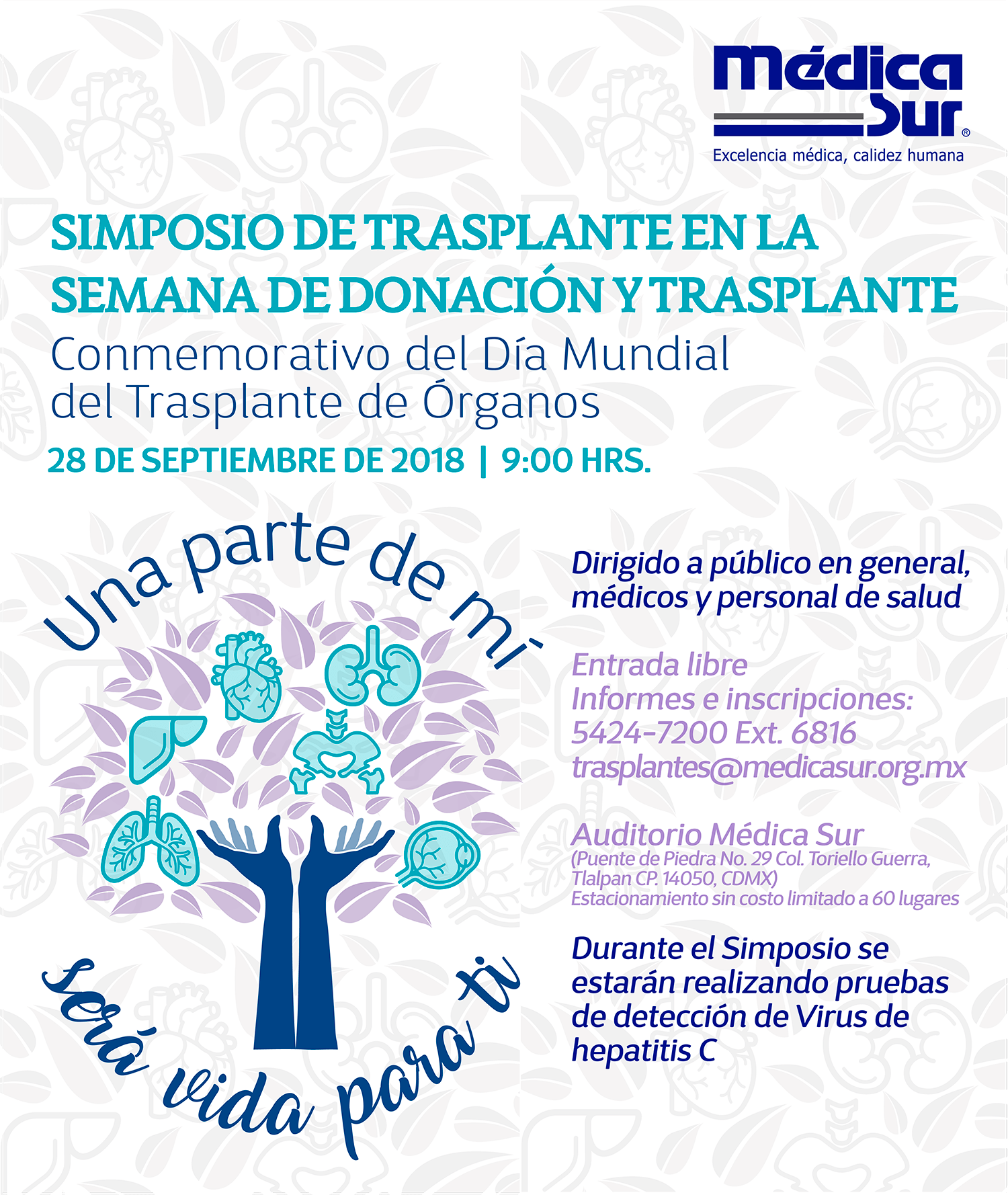 Cartel de invitación al evento